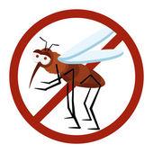 No sign mosquito — Stock Photo