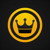 Crown icon black — Stock Photo