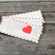 Letter and love heart — Stock Photo #43384139