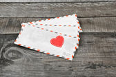 Letter and love heart — Foto Stock