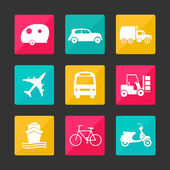 Collection transport icons — Stockfoto
