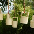 Hanging bamboo barrels - Photo
