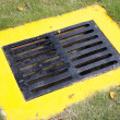 Sewer in grassland — Stock Photo