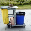 Environmental sanitation barrow in the park — Stock Photo