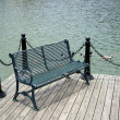 Garden bench at lakeside — Stock Photo #24884805