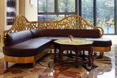 Hotel lobby and tea table — Stock Photo