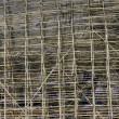 Bamboo construction scaffolding — Stock Photo
