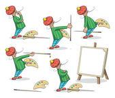Artist Painter Set — Stock Vector