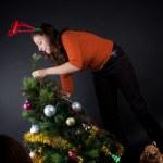 kobieta na Boże Narodzenie — Zdjęcie stockowe