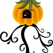 Royalty-Free Stock Immagine Vettoriale: House pumpkin on the tree
