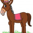 Royalty-Free Stock Vector Image: Brown Donkey