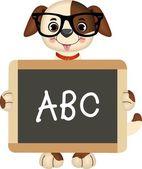 Teacher Dog — Stock Vector