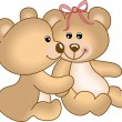 Teddy bears in love - Stock Vector