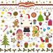 Stock Vector: Christmas Digital Scrapbook