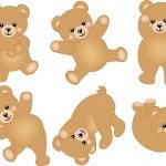 Cute Baby Teddy Bear — Stock Vector
