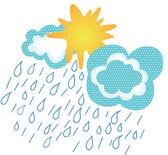 Güneş yağmur bulutları geliyor — Stok Vektör