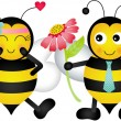 Loving bees - Stock Vector