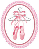 Ballet shoes label — Vector de stock