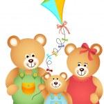 Teddy Bear Family — Stock Vector #24557349