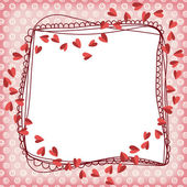 Heart Scrapbook Frame — Stock Vector