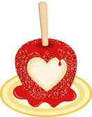 Sweet Candy Apple Love — Stock Vector