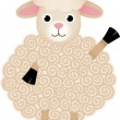 Friendly Sheep — Stock Vector