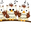 Постер, плакат: Three Owls Choir Singing