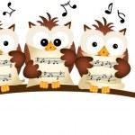Постер, плакат: Three Owls Choir Singing
