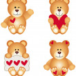 Cute Teddy Bear With Heart — Stock Vector #37551279