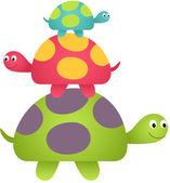 Happy Turtles — Stock Vector