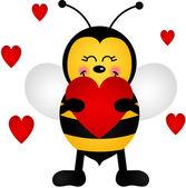 Love Bee — Vettoriale Stock