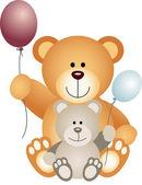 Teddybären mit ballons — Stockvektor