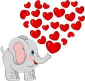 Lovely Elephant — Stock Vector