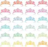 Colored Crown — Stock Vector