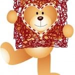 Teddy Bear with Heart Frame — Stock Vector #42999545