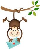 Mono sosteniendo una envolvente — Vector de stock