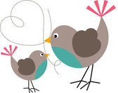 Bird and Birdie — Vector de stock