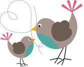 Bird and Birdie — Stock Vector