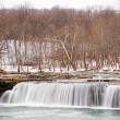 Snowy Waterfall — Stock Photo