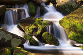Cascade with Mossy Rocks — Stock Photo