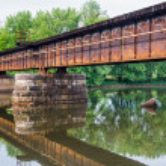 Railroad Bridge over Middle Island Creek — Stock Photo