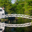 Footbridge in Sommesville, Maine - Stock Photo