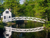 Footbridge in Sommesville, Maine — Stock Photo