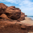 PEI Eroding Red Cliffs — Stock Photo