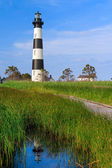 Riflessione di bodie island lighthouse — Foto Stock