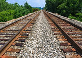 Rails to Infinity — Stock Photo