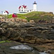 Lighthouse and Cape Neddick Coastline — Stock Photo #29858265