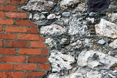 Brick and Stone Wall — Stock Photo