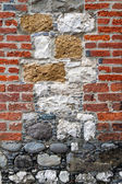 Interesting Brick and Stone Wall — Stock Photo