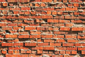 Rugged Brick Wall — Stock Photo